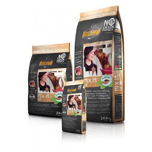 Сухой корм Belcando Mix It GF беззерновой для собак всех возрастов сбалансированная гипоаллергенная добавка к свежему, замороженному и консервированному мясу