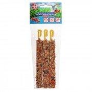 Зерновые палочки для грызунов SEVEN SEEDS Эконом Ассорти: овощи, шиповник, абрикос, 3шт