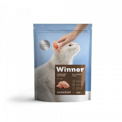 Сухой корм Winner полнорационный для пожилых кошек из курицы