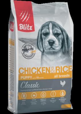 Сухой корм Blitz Puppy для щенков Курица/рис