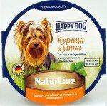 Консервы для собак Happy Dog паштет Курица и утка, 11x85г