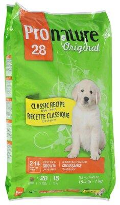 Сухой корм Pronature Original 28 для щенков крупных пород с цыпленком, 7кг