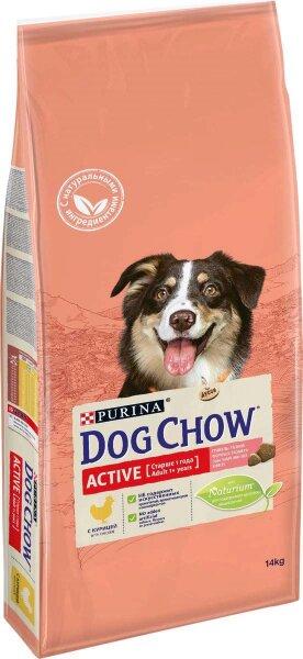 Сухой корм DOG CHOW Adult Active для активных собак с курицей, 14кг