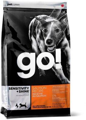 Сухой корм Go! Natural Holistic Sensitivity+Shine Salmon Recipe для щенков и собак со свежим лососем и овсянкой