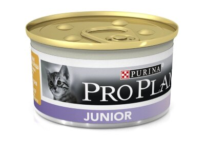 Консервы Pro Plan Junior для котят мусс с курицей и печенью, 24шт x 85г