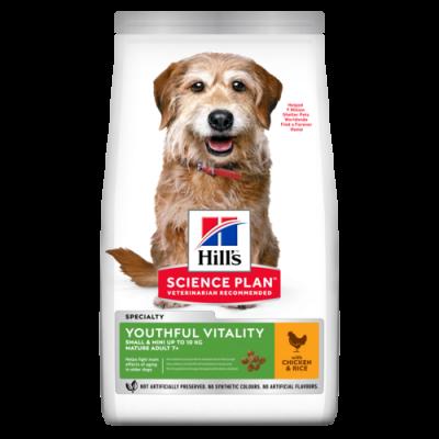 Сухой корм Hill's Science Plan Youthful Vitality для собак мелких пород старшего возраста с курицей и рисом