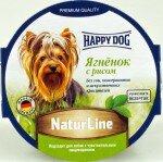 Консервы для собак Happy Dog паштет Ягненок с рисом, 11x85г