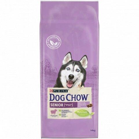 Сухой корм DOG CHOW Senior для пожилых собак 9+ с ягненком, 14кг