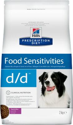 Сухой корм для собак Hill's Prescription Diet d/d для лечения пищевых аллергий (лосось с рисом)