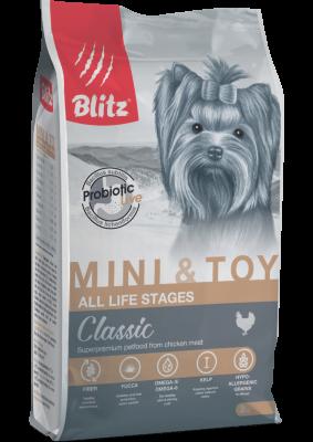 Сухой корм Blitz для собак миниатюрных и мелких пород