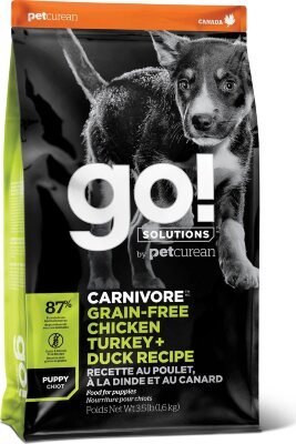 Сухой корм Go! Natural Holistic беззерновой для щенков всех пород 4 вида мяса: Индейка, Курица, Лосось, Утка