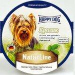 Консервы для собак Happy Dog паштет Кролик, 11x85г