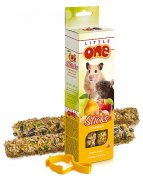 Палочки для хомяков, крыс, мышей и песчанок Little One с фруктами и орехами, 2х60г