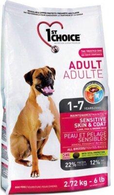 Сухой корм 1st Choice Adult Sensitive Skin & Coat для собак с чувствительной кожей и шерстью