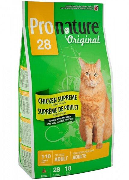 Сухой корм Pronature Original 28 для кошек с курицей