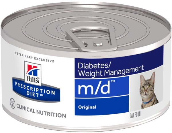 Консервы Hill's Prescription Diet m/d для лечения сахарного диабета и ожирения для кошек, 24шт x 156г