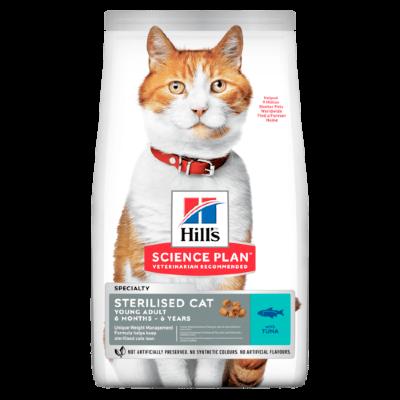 Сухой корм Hill's Science Plan для стерилизованных кошек в возрасте 6 месяцев - 6 лет, с тунцом