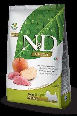 Сухой корм Farmina N&D Prime Dog Adult Mini беззерновой для взрослых собак мелких пород с мясом кабана и яблоком