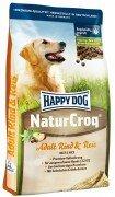 Сухой корм Happy Dog NaturCroq для собак всех пород с нормальными потребностями в энергии с говядиной и рисом