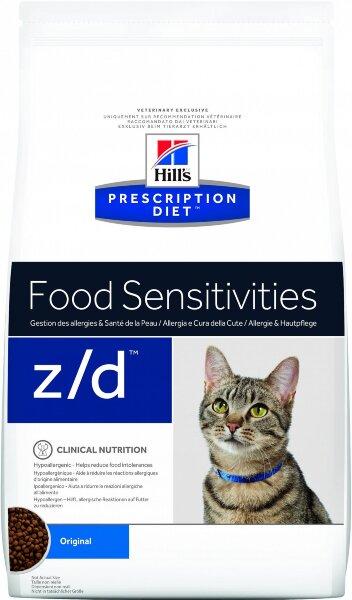 Сухой корм Hill's Prescription Diet z/d для лечения острых пищевых аллергий у кошек, 2кг