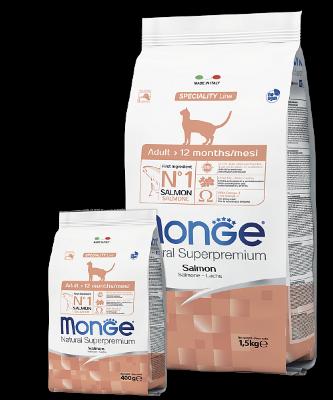 Сухой корм Monge Cat Salmon Adult для взрослых кошек с лососем