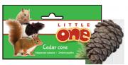 Лакомство-игрушка для грызунов Little One кедровая шишка (натуральная с орешками)