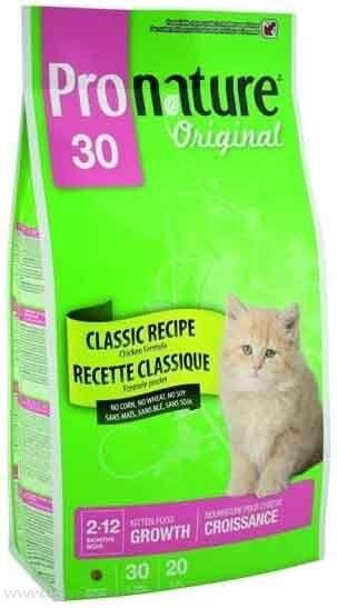 Сухой корм Pronature Original 30 для котят с курицей