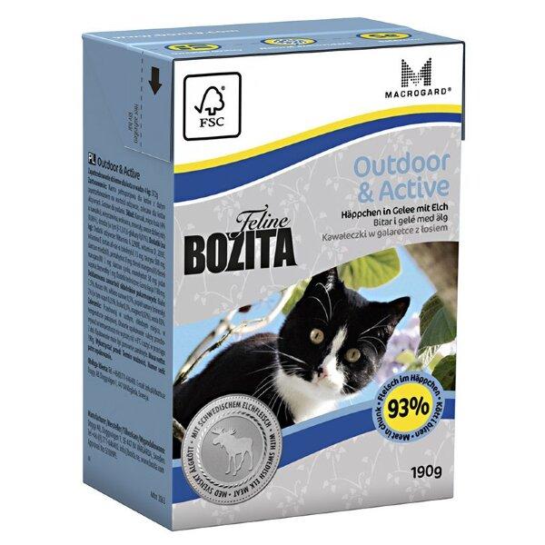 Консервы Bozita Outdoor & Active для активных кошек кусочки в желе с Лососем, 190г