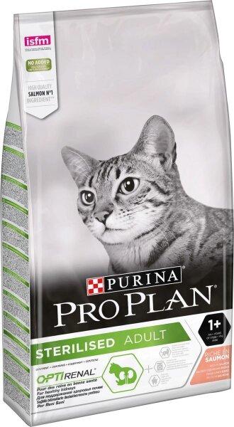 Сухой корм Pro Plan Sterilised для кастрированных и стерилизованных кошек с лососем