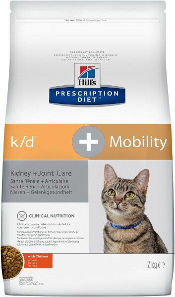 Сухой корм Hill's Prescription Diet k/d + Mobility для кошек с Курицей, 2кг