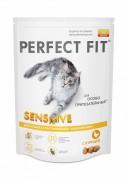 Сухой корм Perfect Fit Sensitive для чувствительных кошек с курицей