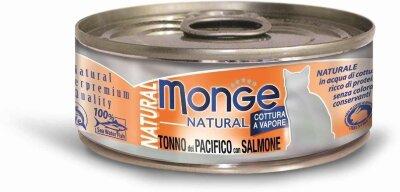 Консервы для кошек Monge TONNO del PACIFICO con SALMONE с тунцом и лососем, 80г