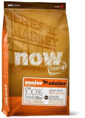 Сухой корм NOW Fresh Senior контроль веса для пожилых собак малых пород беззерновой с индейкой, уткой и овощами