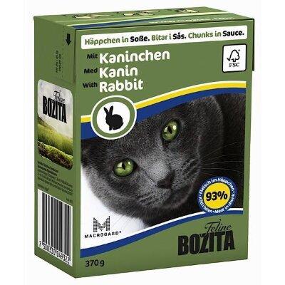 Консервы Bozita Feline Rabbit для кошек кусочки с Кроликом в желе, 370г