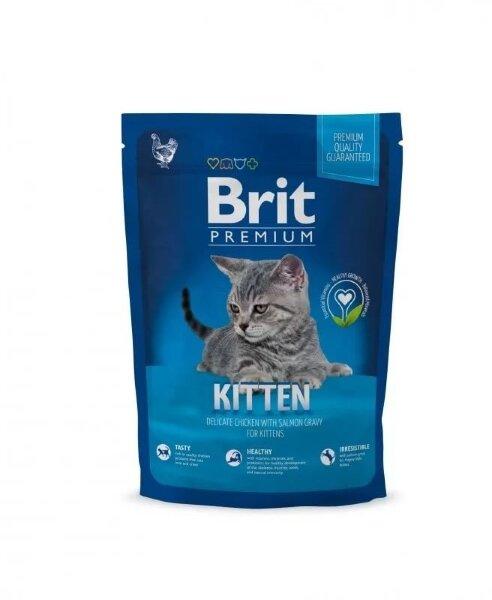 Сухой корм для котят Brit Premium Cat Kitten с курицей в лососевом соусе