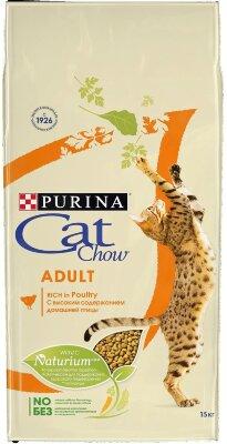 Сухой корм CAT CHOW Adult Rich in Poultry для кошек с домашней птицей