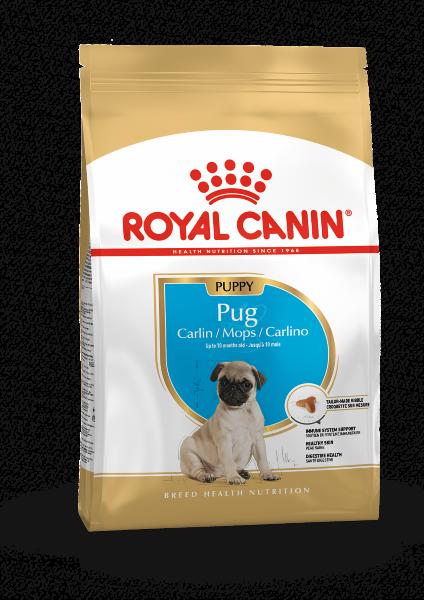 Сухой корм Royal Canin Pug Puppy для щенков породы Мопс, 1,5 кг