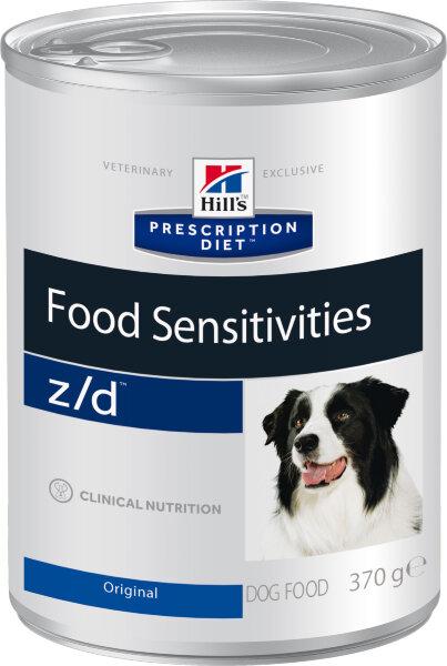Консервы Hill's Prescription Diet z/d при острых пищевых аллергиях у собак, 12шт x 370г
