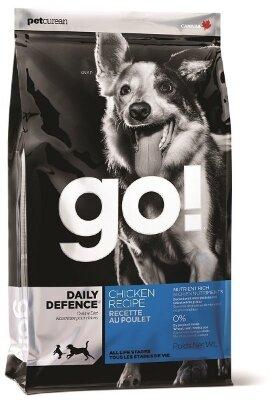 Сухой корм Go! Natural Holistic Daily Defence Chicken Recipe для щенков и собак с цельной курицей, фруктами и овощами