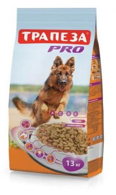 Сухой корм Трапеза PRO для собак с повышенной периодической активностью, 13 кг