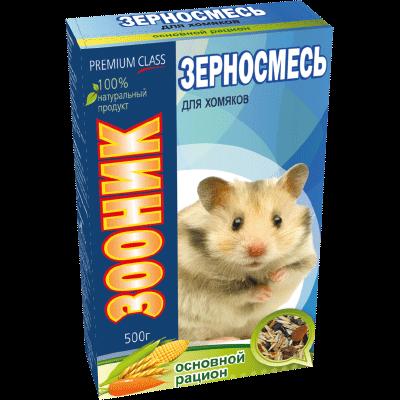 """Зерносмесь для хомяков Зооник """"Основной рацион"""" Премиум, 400 г"""