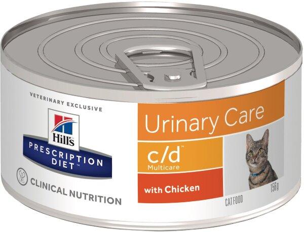 Консервы Hill's Prescription Diet c/d для профилактики МКБ и струвитов у кошек, 24шт x 156г