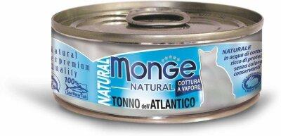 Консервы для кошек Monge TONNO dell'ATLANTICO с атлантическим тунцом, 80г