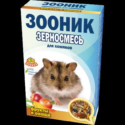 """Зерносмесь для хомяков Зооник """"С фруктами и овощами"""" Стандарт, 400 г"""