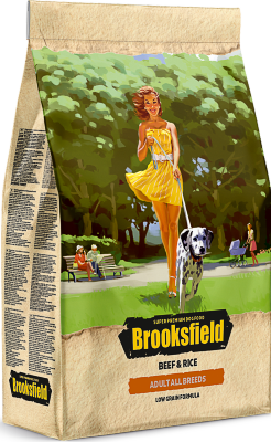 Сухой корм Brooksfield Adult Dog All Breeds Beef для взрослых собак Говядина/рис