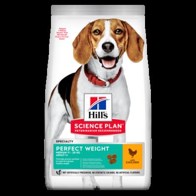 Сухой корм Hill's Science Plan Perfect Weight для взрослых собак средних пород с избыточным весом, с курицей