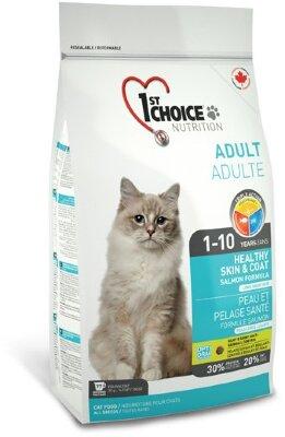 Сухой корм 1st Choice Adult Healthy Skin & Coat для здоровья шерсти и кожи взрослых кошек