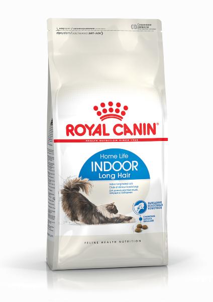 Сухой корм Royal Canin Indoor Long Hair для длинношерстных кошек