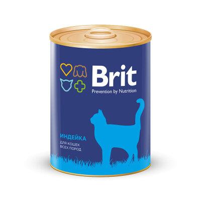 Консервы Brit Premium для взрослых кошек с индейкой, 340г