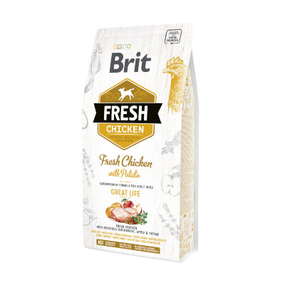 Сухой корм для собак Brit Fresh Chicken with Potato со курицей и картофелем - Прекрасная жизнь